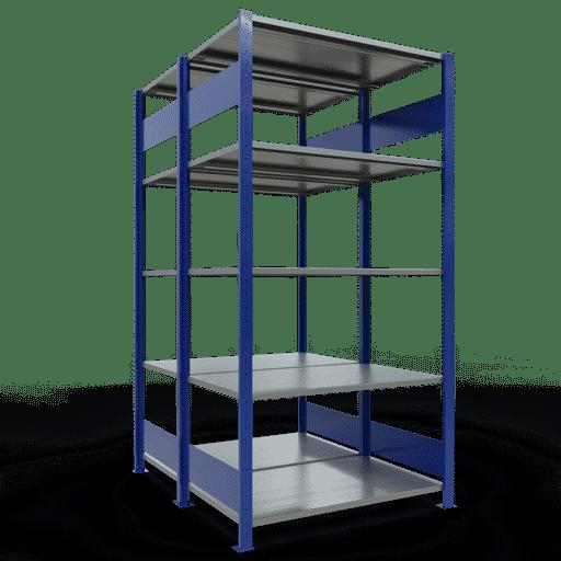 Doppelregal Grundregal Stecksystem 2000x1000x2x600 mm 2×5 Fachböden 150 kg Fachlast SCHULTE Lagertechnik