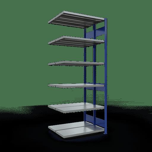 Doppelregal Anbauregal Stecksystem 2500x1000x2x400 mm 2×6 Fachböden 250 kg Fachlast SCHULTE Lagertechnik