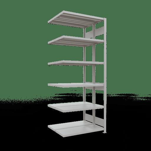 Doppelregal Anbauregal Stecksystem 3000x1000x2x400 mm 2×7 Fachböden 250 kg Fachlast SCHULTE Lagertechnik