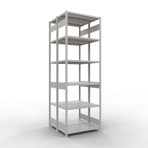 Doppelregal Grundregal Stecksystem 3000x1000x2x500 mm 2×7 Fachböden 250 kg Fachlast SCHULTE Lagertechnik