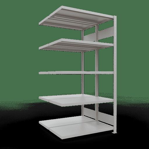 Doppelregal Anbauregal Stecksystem 2000x1000x2x500 mm 2×5 Fachböden 250 kg Fachlast SCHULTE Lagertechnik