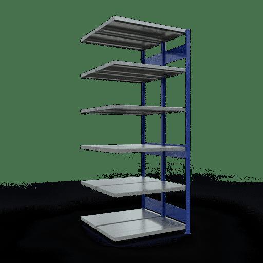 Doppelregal Anbauregal Stecksystem 2500x1000x2x500 mm 2×6 Fachböden 250 kg Fachlast SCHULTE Lagertechnik