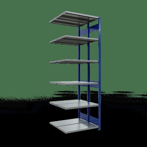 Doppelregal Anbauregal Stecksystem 3000x1000x2x500 mm 2×7 Fachböden 250 kg Fachlast SCHULTE Lagertechnik