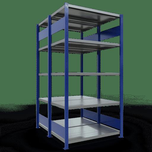 Doppelregal Grundregal Stecksystem 2000x1000x2x600 mm 2×5 Fachböden 250 kg Fachlast SCHULTE Lagertechnik