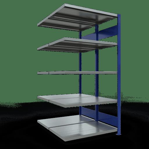 Doppelregal Anbauregal Stecksystem 2000x1000x2x600 mm 2×5 Fachböden 250 kg Fachlast SCHULTE Lagertechnik
