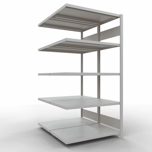 Doppelregal Anbauregal Stecksystem 2500x1000x2x600 mm 2×6 Fachböden 250 kg Fachlast SCHULTE Lagertechnik