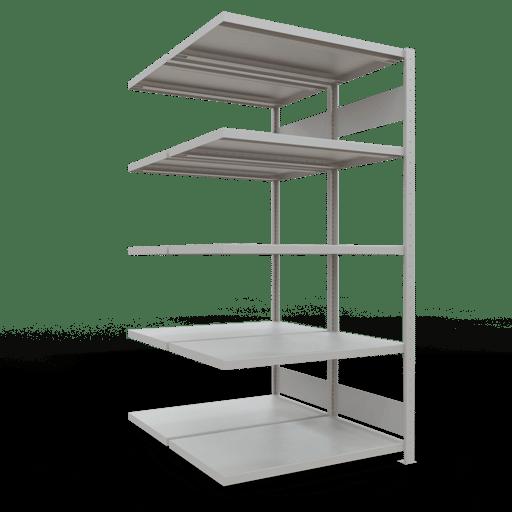 Doppelregal Anbauregal Stecksystem 3000x1000x2x600 mm 2×7 Fachböden 250 kg Fachlast SCHULTE Lagertechnik