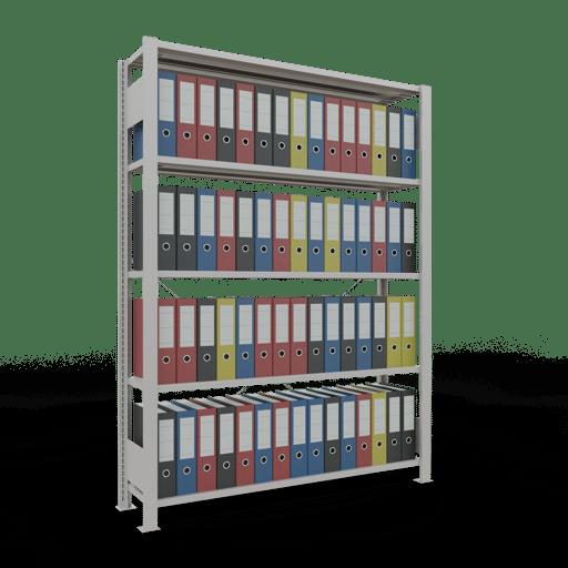 Steckregal Büroregal Grundregal 1800x1300x300 mm Fachlast 85 kg Rahmen montiert mit Anschlagleiste SCHULTE Lagertechnik