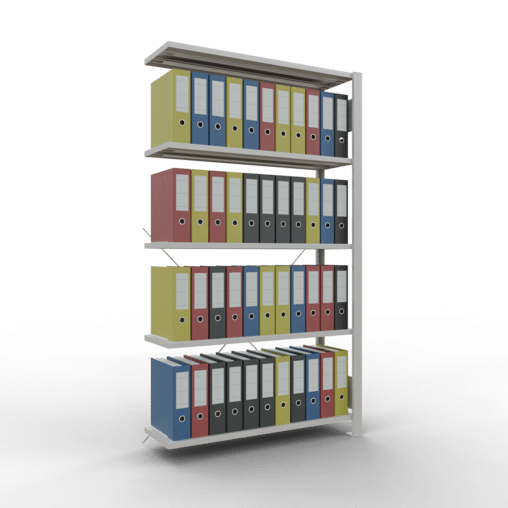 Steckregal Büroregal Anbauregal SCHULTE Stecksystem – 1800x1000x300mm, Typ 85 kg