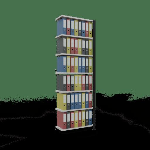 Steckregal Büroregal Anbauregal SCHULTE Stecksystem – 2300x750x300 mm, Typ 85 kg