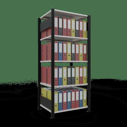 Steckregal Büroregal Grundregal 1800x750x600 mm Fachlast 150 kg ohne Mittelanschlag SCHULTE Lagertechnik