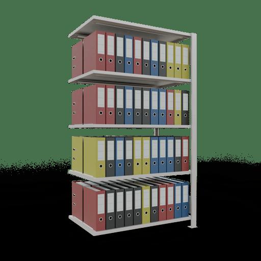 Steckregal Büroregal Anbauregal SCHULTE Stecksystem – 1800x1000x600 mm, Typ 150 kg Rahmen montiert
