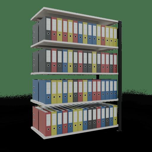 Steckregal Büroregal Anbauregal SCHULTE Stecksystem – 1800x1300x600 mm, Typ 150 kg