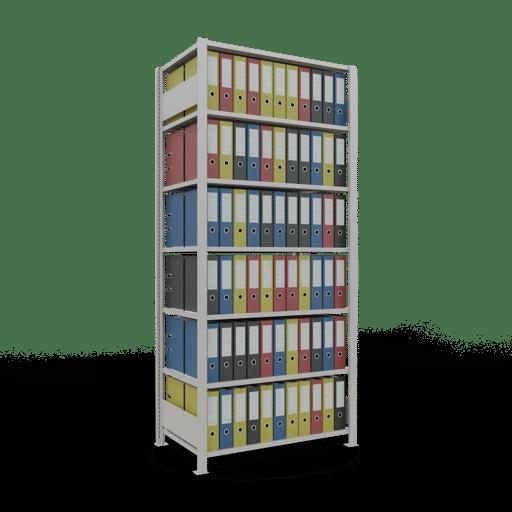 Steckregal Büroregal Grundregal 2300x1000x600 mm Fachlast 150 kg ohne Mittelanschlag SCHULTE Lagertechnik