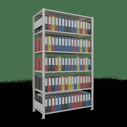 Steckregal Büroregal Grundregal 2300x1300x600 mm Fachlast 150 kg ohne Mittelanschlag SCHULTE Lagertechnik