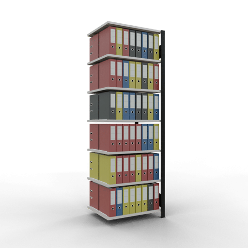 Steckregal Büroregal Anbauregal SCHULTE Stecksystem – 2300x750x600 mm, Typ 150 kg