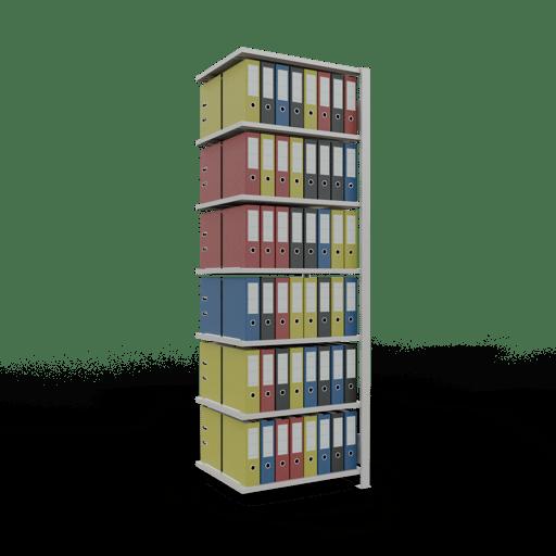 Steckregal Büroregal Anbauregal SCHULTE Stecksystem – 2300x 750×600 mm, Typ 150 kg Rahmen montiert