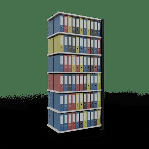 Steckregal Büroregal Anbauregal SCHULTE Stecksystem – 2300x1000x600 mm, Typ 150 kg
