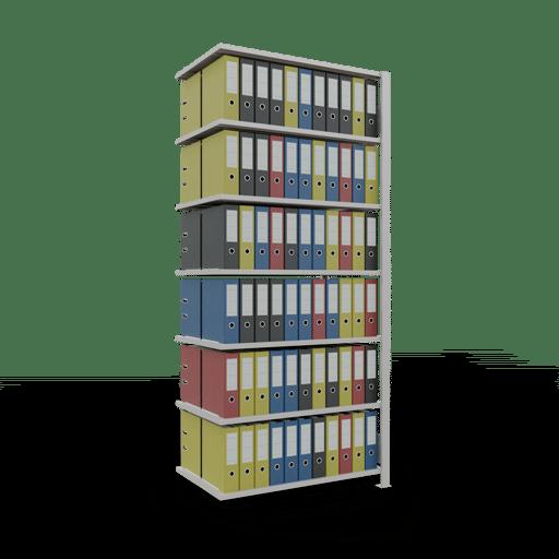 Steckregal Büroregal Anbauregal SCHULTE Stecksystem – 2300x1000x600 mm, Typ 150 kg Rahmen montiert