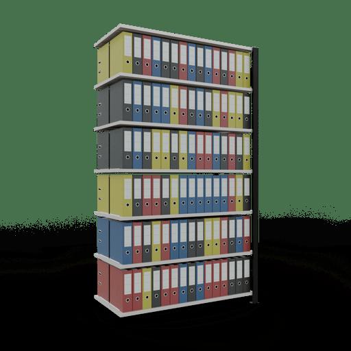 Steckregal Büroregal Anbauregal SCHULTE Stecksystem – 2300x1300x600 mm, Typ 150 kg