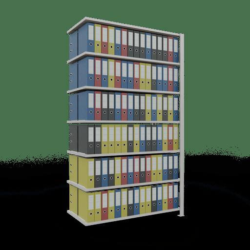 Steckregal Büroregal Anbauregal SCHULTE Stecksystem – 2300x1300x600 mm, Typ 150 kg Rahmen montiert