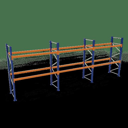 Palettenregal Komplettregal 3000x8444x1100 mm HxBxT 2 Fachebenen SCHULTE Lagertechnik
