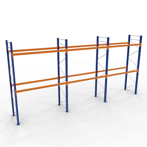 Palettenregal Komplettregal 4000x8444x1100mm HxBxT 2 Fachebenen SCHULTE Lagertechnik