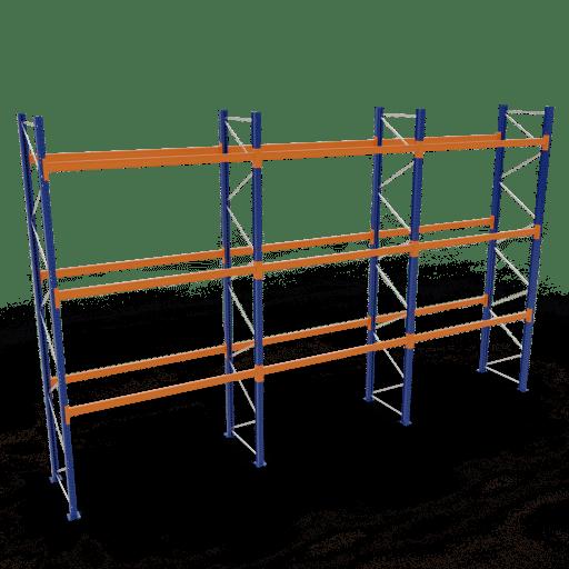 Palettenregal Komplettregal 5000x8444x1100 mm HxBxT 3 Fachebenen SCHULTE Lagertechnik