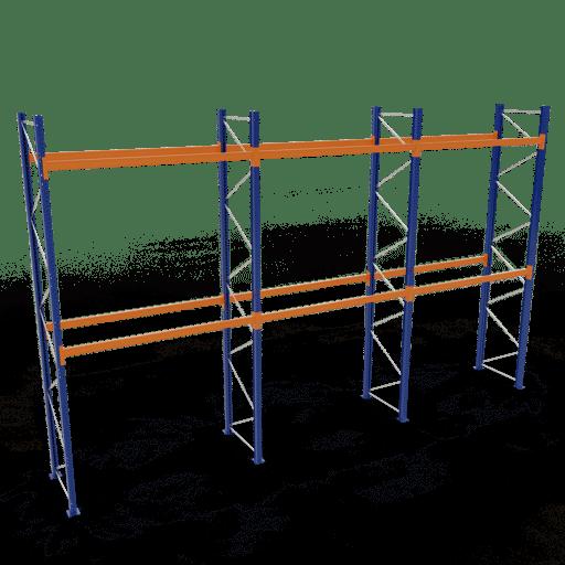 Palettenregal Komplettregal 5000x8444x1100mm HxBxT 2 Fachebenen SCHULTE Lagertechnik