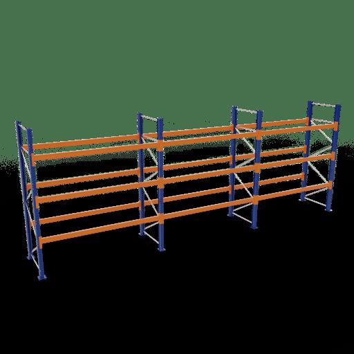 Palettenregal Komplettregal 3000x8444x1100mm HxBxT 3 Fachebenen SCHULTE Lagertechnik