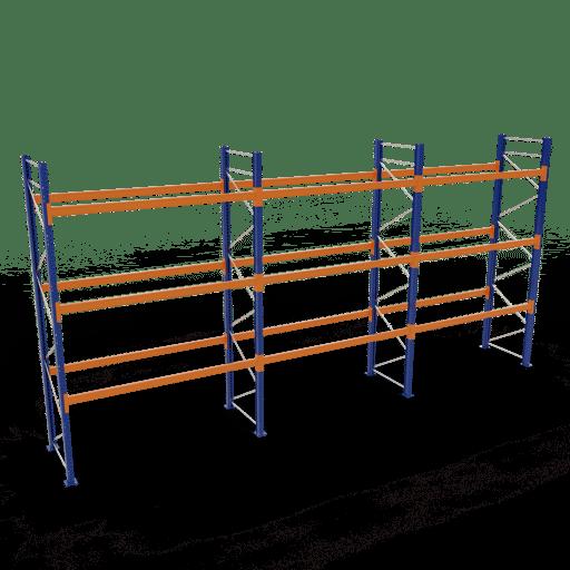 Palettenregal Komplettregal 4000x8444x1100mm HxBxT 3 Fachebenen SCHULTE Lagertechnik