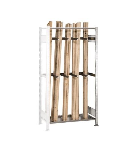 Langgutregal Anbauregal 2000x1000x500 mm – verzinkt mit 8 Unterteilungsrohren SCHULTE Lagertechnik