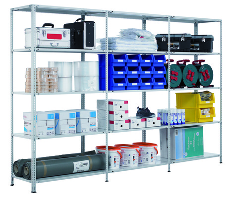 Schraubregal Grundregal Fachbodenregal SCHULTE Schraubsystem – 1800x1300x600 mm, Typ 150 kg