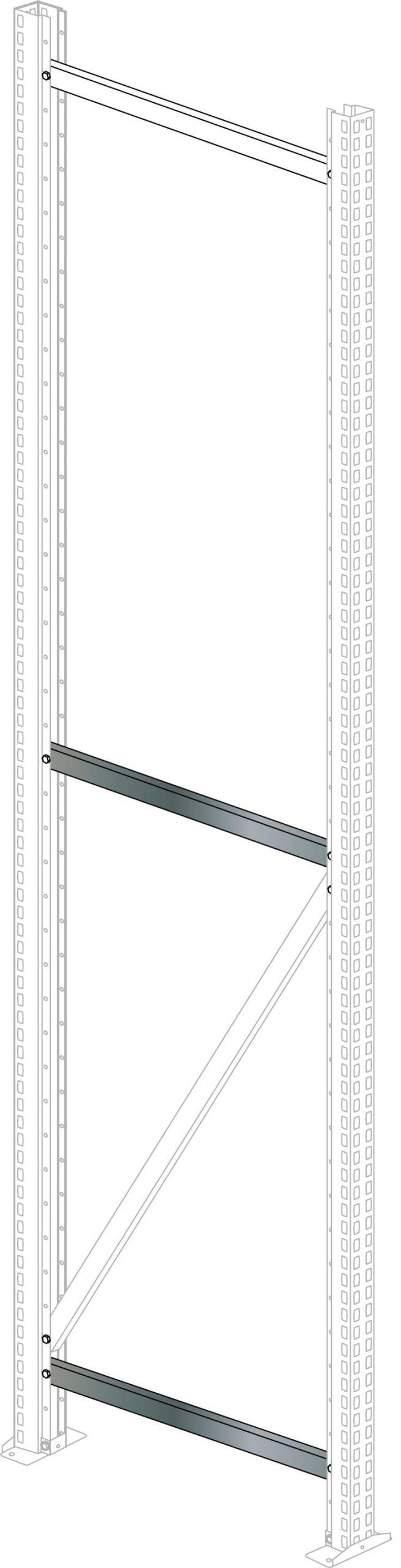 Horizontale 953 mm für Multifunk- – tionsstütze, Tiefe 1000 mm, verz.