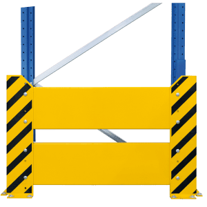 Rammschutzwand für Doppelregale
