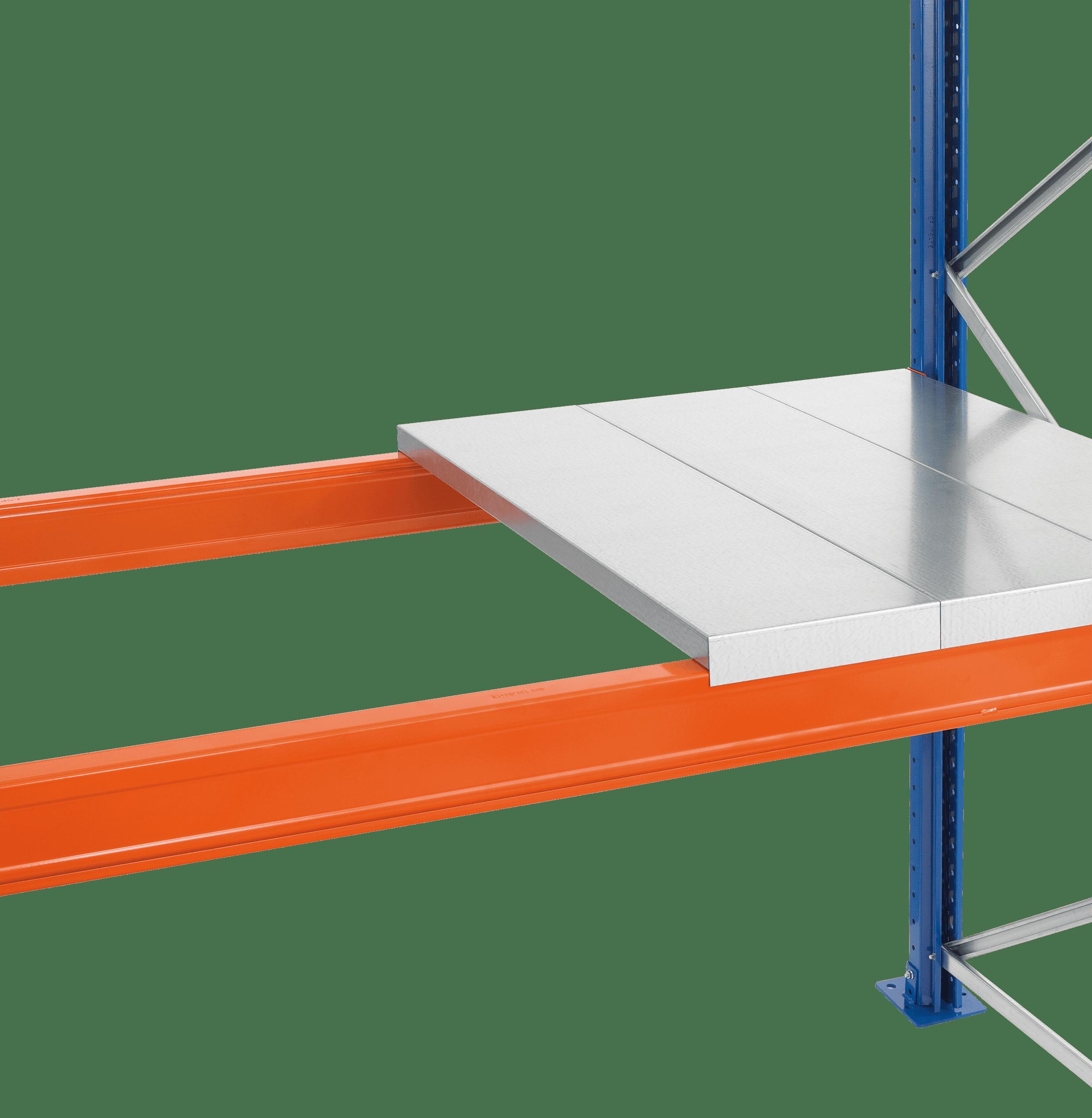 Stahlpaneel-Ebene für Palettenregal 3300x1100x1.25 – mm, Belastbarkeit 2750 kg/Ebene