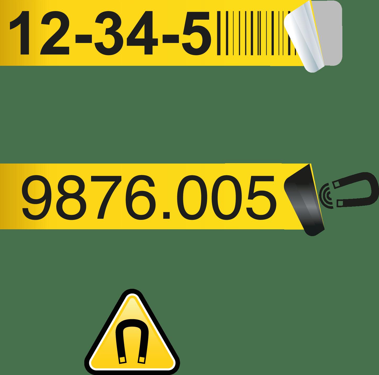 Regalplatzetiketten 220×58 weiß – Magnetisch