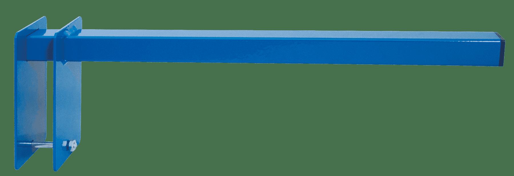 Trennarme 500 x 100 x 165 mm (TxBxH) – für Profillager-Regal von Schulte Lagertechnik in blau