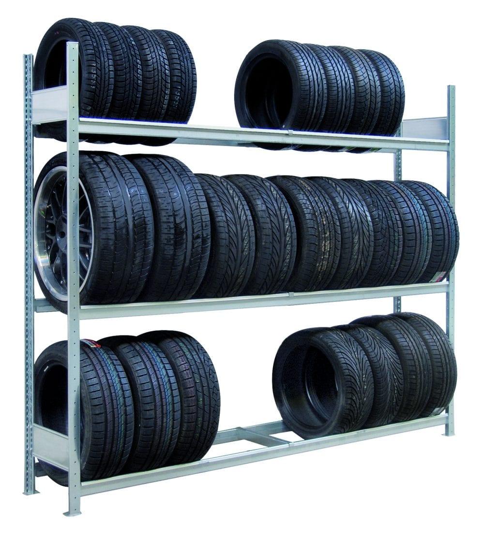 Reifenregal 2500 mm, Zusatzebene – verzinkt