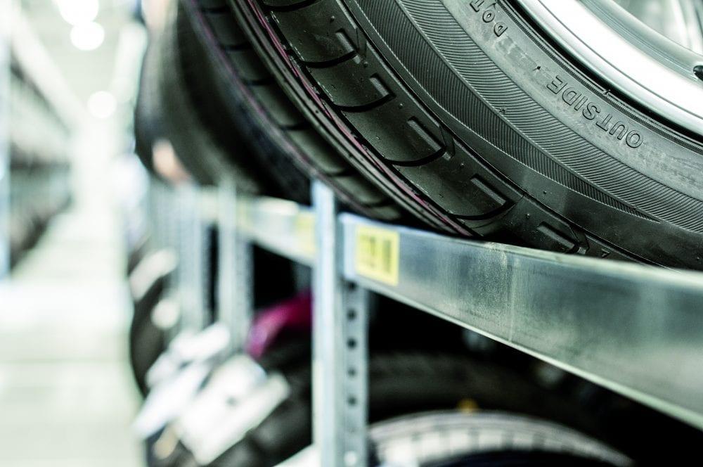 Reifenregal 2250 mm, Zusatzebene – verzinkt