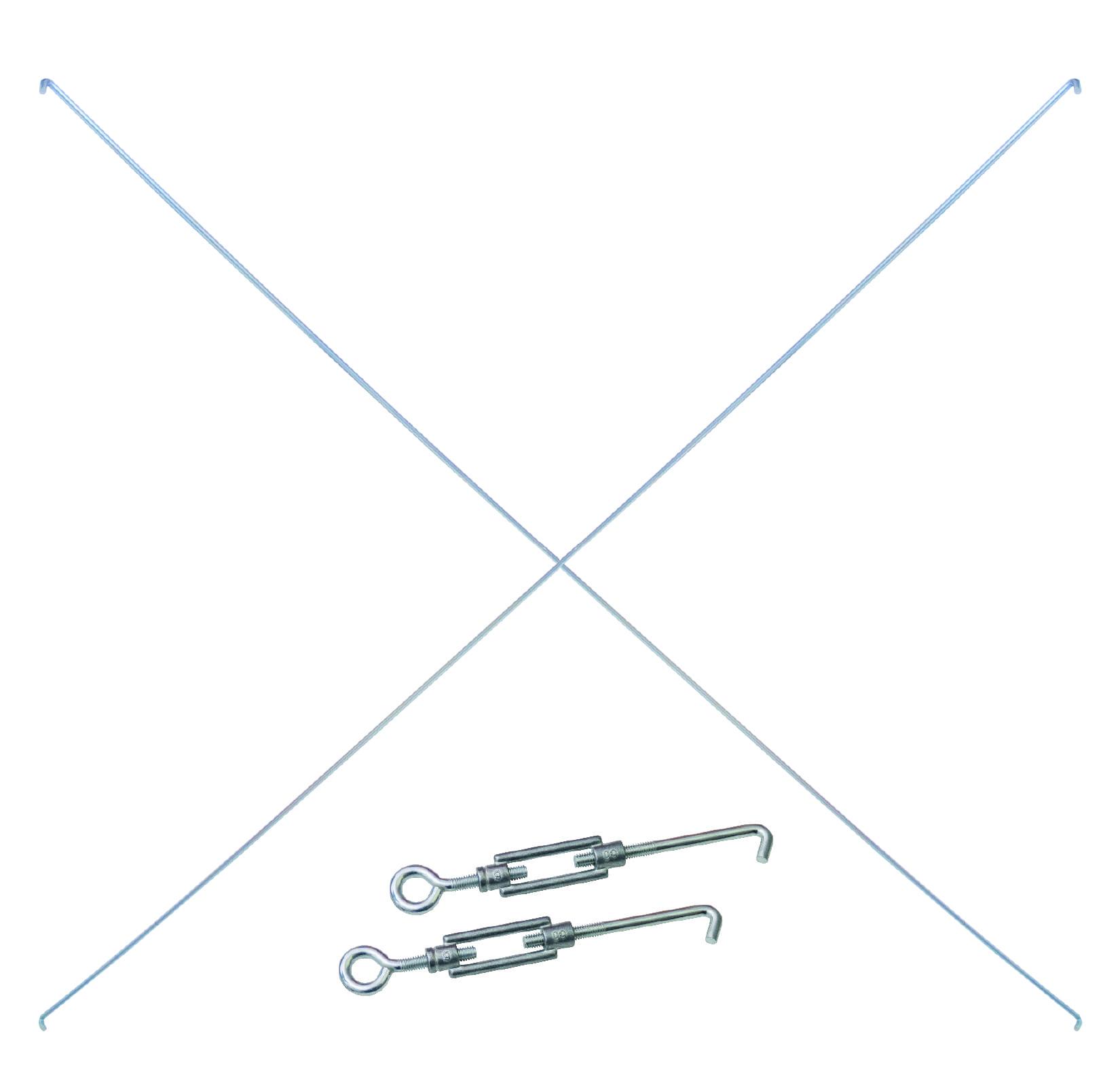 Einzelne Diagonalstrebe 1500 mm für Stecksystem