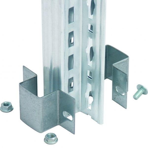 Doppelregalverbinder für T-Profile mit Doppel-Klemmfuß