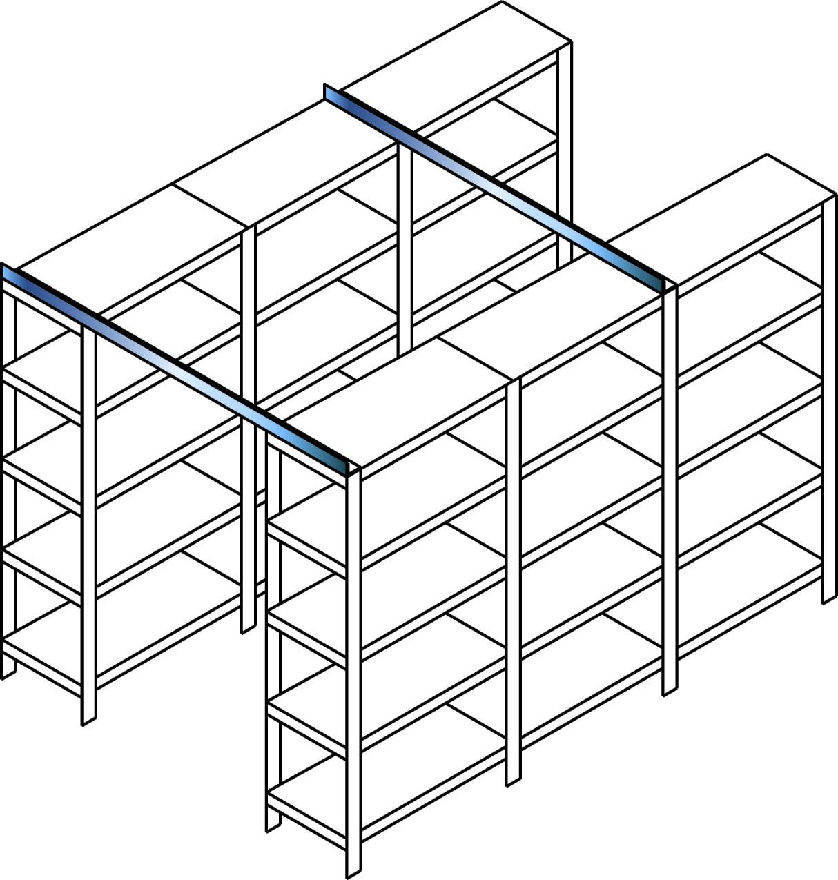 Querverband-Set4: 3000mm, für den – Aufbau von Querverbänden