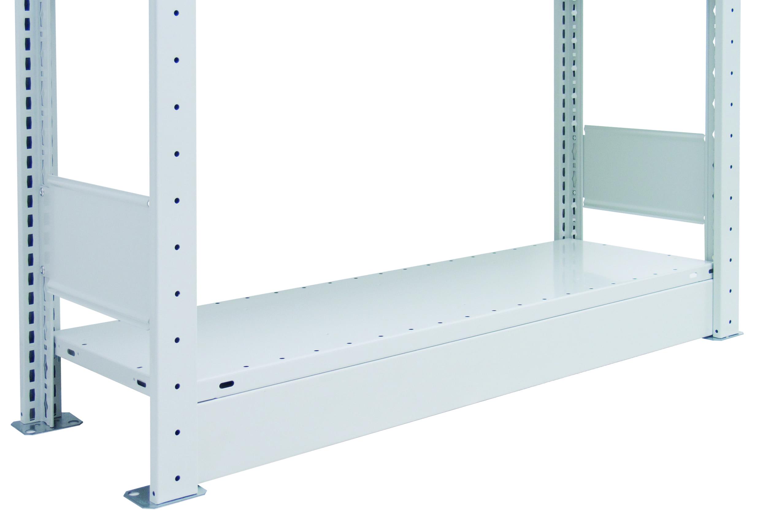 Sockelblende  750 mm, 90 mm hoch – für Stecksystem, mit 2 Stiften