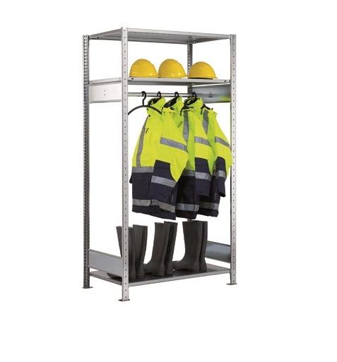 Garderobenregal SCHULTE Anbauregal 2000x1300x600 mm mit Kleiderstange