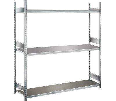 Weitspannregal WS 2000 Stahlplatte 3 Ebenen