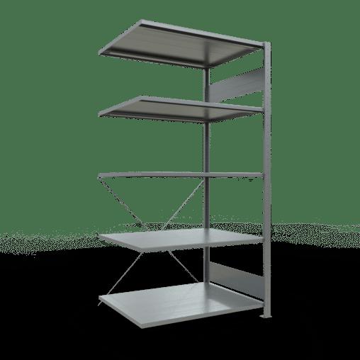Steckregal Anbauregal 1800x1000x800 mm Fachlast 150 kg 5 Fachböden SCHULTE Lagertechnik verzinkt