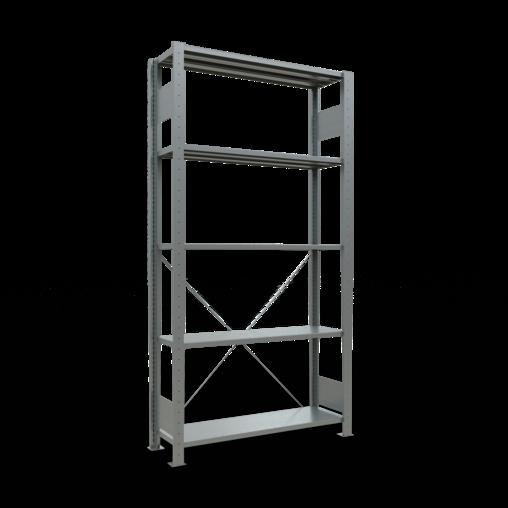 Steckregal Grundregal 2000x1000x300 mm Fachlast 150 kg 5 Fachböden SCHULTE Lagertechnik