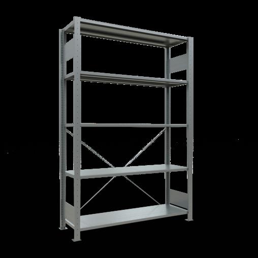 Steckregal Grundregal 2000x1300x400 mm Fachlast 150 kg 5 Fachböden SCHULTE Lagertechnik