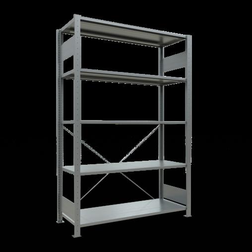 Steckregal Grundregal 2000x1300x500 mm Fachlast 150 kg 5 Fachböden SCHULTE Lagertechnik